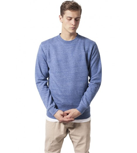 Sweat Crewneck Urban Classics Bleu Chiné