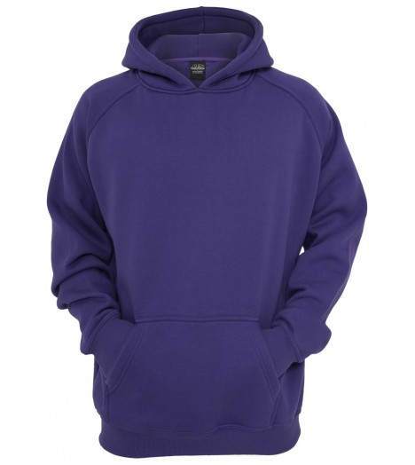 Sweat à capuche URBAN CLASSICS Kids Violet large/ample Basique