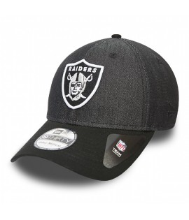 Casquette New Era 3930 Oakland Raiders Stretch Canvas Noir