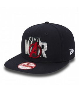 Casquette New Era Civil War Marvel Liquid Chrome Snapback Bleu Marine