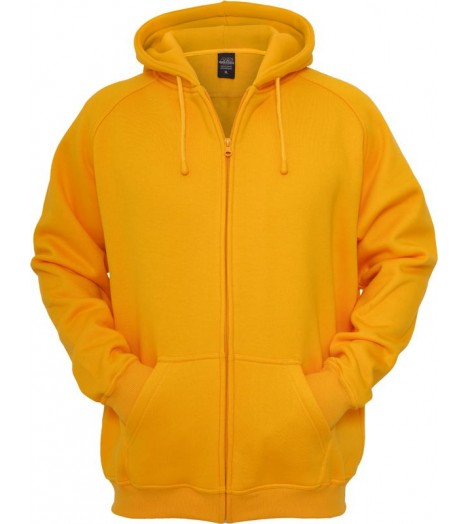 Sweat zippé URBAN CLASSICS large en molleton Orange