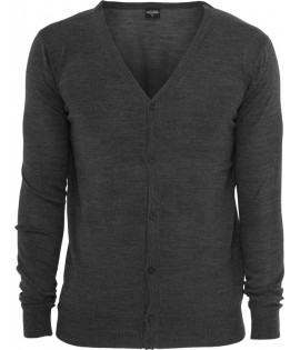 Pull Cardigan URBAN CLASSICS toucher Cashmere Charbon