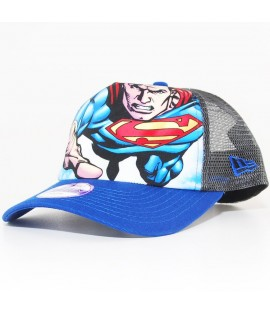 Casquette Ado New Era Superman Trucker Bleu 940 Youth