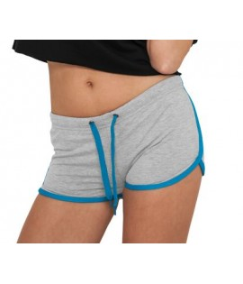 """Mini-short URBAN CLASSICS Gris / Turquoise """"French Terry Hotpant"""""""