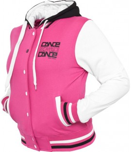 Veste Teddy à capuche URBAN DANCE Rose/ Blanc / Noir College Dance