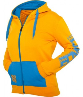Veste zippée en molleton URBAN DANCE Orange / Bleu à capuche