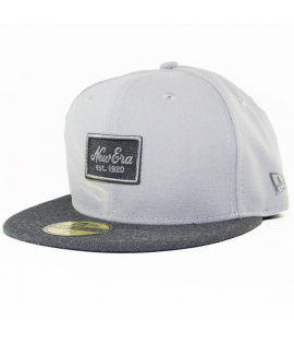 Casquette New Era 59 Fifty Heather Patched Gris
