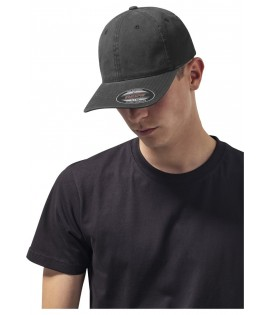 Casquette Incurvée Flexfit Noir Dad Hat Garment Washed