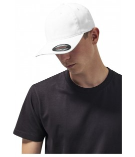 Casquette Incurvée Flexfit Blanc Dad Hat Garment Washed