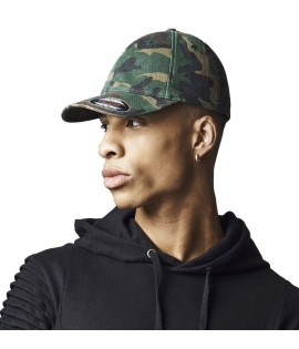 Casquette Incurvée Flexfit Camouflage Dad Hat Garment Washed