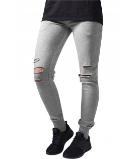 Jogging Destroy Femme Urban Classics Cutted Gris Clair