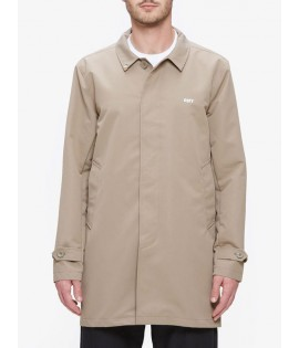 Trench Coat Jacket Obey Sneaky Kaki Foncé