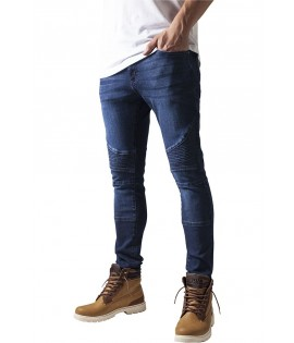 Biker Slim Fit Jean Urban Classics Stretch Dark Bleu Taille US