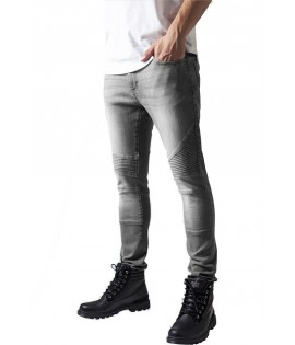 Biker Slim Fit Jean Urban Classics Stretch Gris Taille US