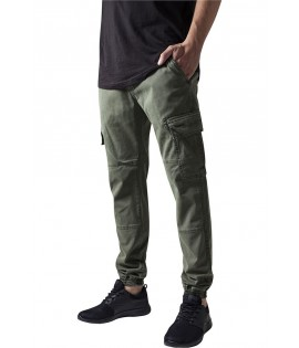 Pantalon Cargo Stretch Urban Classics Washed Olive