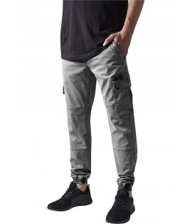 Pantalon Cargo Stretch Urban Classics Washed Gris
