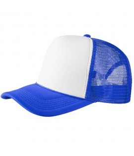 Casquette Trucker Bleu Royal Blanc Masterdis Snapback à filet Ajustable