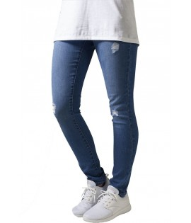 Jean Destroy Urban Classics Bleu Délavé Ripped Stretch Denim