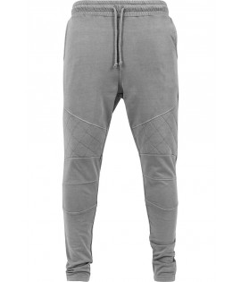 Pantalon Jogging Urban Classics Gris Diamond Stitch