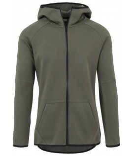 Athletic High Neck Interlock Zip Hoody, Sweat-Shirt à Capuche Homme, Gris (Grey), LargeUrban Classics