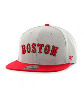 Casquette 47 Brand Boston Red Sox Script Snapback Gris Rouge
