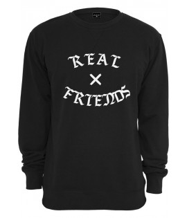 Sweat Mister Tee Real Friends Crewneck Noir