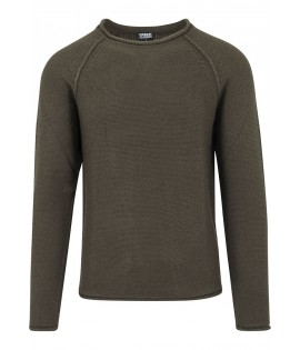 Pull Urban Classics Raglan Olive Maille Acrylique