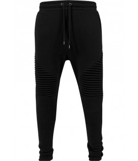 Jogging Biker Urban Classics Pleat Noir