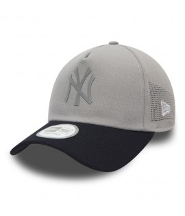 Casquette Trucker New Era NY Yankees Side Perf Gris