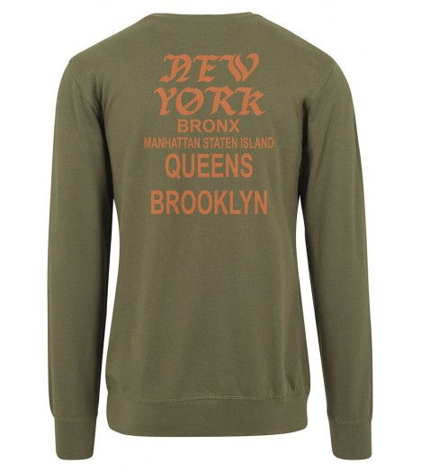 Sweat Mister Tee New York Pablo Crewneck Olive Orange