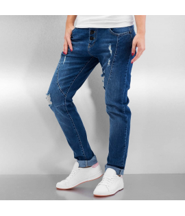 Jean Femme Just Rhyse Used Jeans Bleu