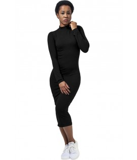Robe Urban Classics Noir Stretch Col Tortue