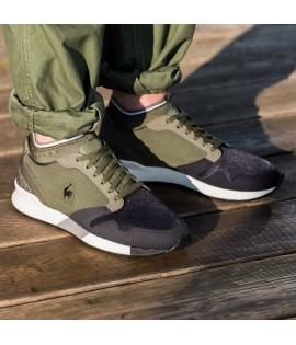 Chaussures Le Coq Sportif Omicron Ripstop Olive
