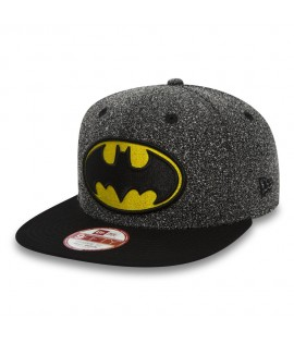 Casquette New Era 9Fiifty DC Comics Batman Flecked Crown Gris