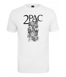 T-shirt 2Pac x Mister Tee Tupac Collage Blanc