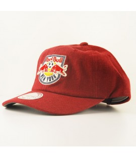 Casquette Courbée Mitchell & Ness New York Red Bull MLS Rouge Linen