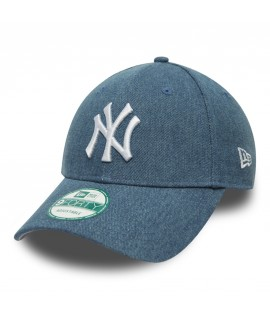 Casquette Incurvée New Era New York Yankees Essential Denim Bleu Clair 940