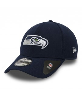 Casquette New Era 3930 Seattle Seahawks Team Stretch Bleu Marine