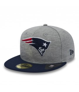 Casquette New Era 59 Fifty New England Patriots Team Jersey Crown Gris