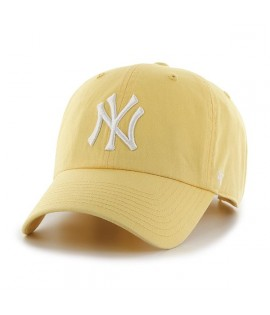 Casquette 47 Brand New York Yankees Clean Up Maize Jaune Pale