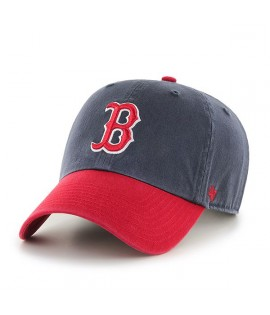 Casquette 47 Brand Boston Red Sox Two Tone Clean Up Navy Rouge