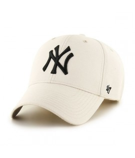 Casquette 47 Brand New York Yankees MVP Natural Blanc