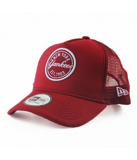 Casquette à Filet New Era New York Yankees Emblem Trucker Rouge Cardinal