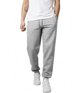 Bas de jogging Urban Classics Gris Clair Basic Molleton