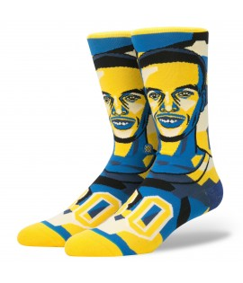 Chaussettes Stance Mosaic Curry Golden States Warriors Stephen Curry NBA Legends
