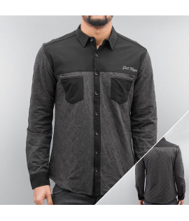 Chemise Just Rhyse Quilted Shirt Noir