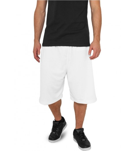 Short Basket-Ball URBAN CLASSICS Blanc en mesh
