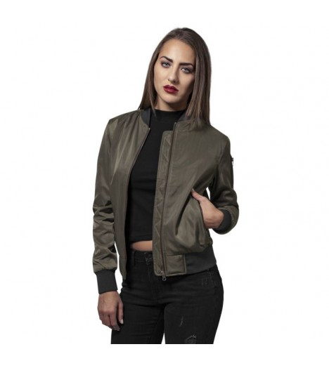 good looking new release online retailer Blouson Bomber Femme Urban Classics Olive Poly