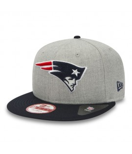 Casquette New Era 9Fifty New England Patriots Team Heather Mesh Gris