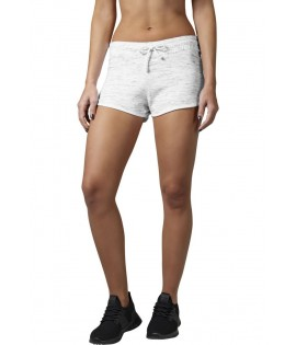 Mini-short Urban Classics Blanc Space Dye Hotpant